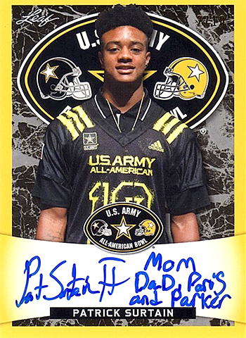 2018 Leaf Metal US Army All-American Football Tour Selection Patrick Surtain