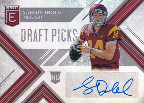 2018 Panini Elite Draft Picks Football Sam Darnold Autograph
