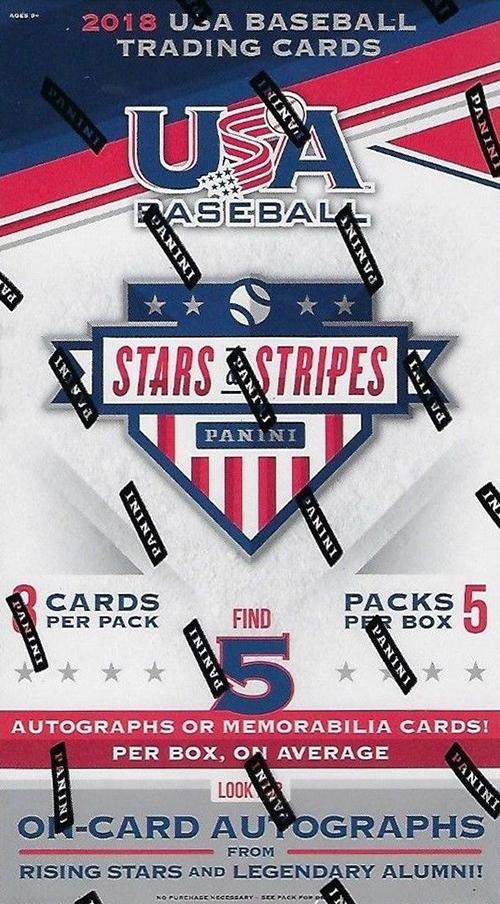 2018 Panini Stars and Stripes USA Baseball Hobby Box