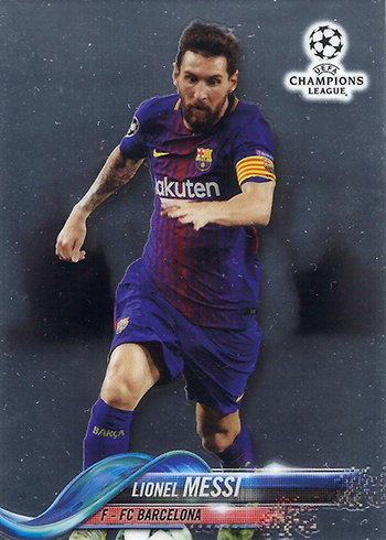 2018 Topps Chrome UEFA Champions League Soccer Lionel Messi
