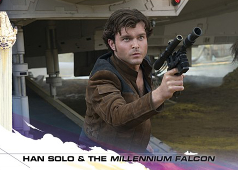 2018 Topps Countdown to Solo 1 Han Solo and the Millennium Falcon