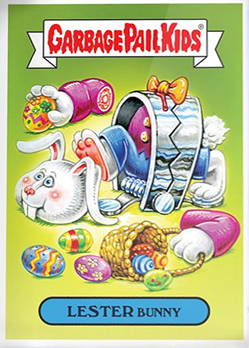 2018 Topps GPK Wacky Packages Easter 1a LESTER Bunny