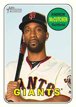 2018 Topps Heritage High Number Baseball Base Andrew McCutchen