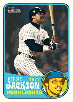 2018 Topps Heritage High Number Baseball Reggie Jackson
