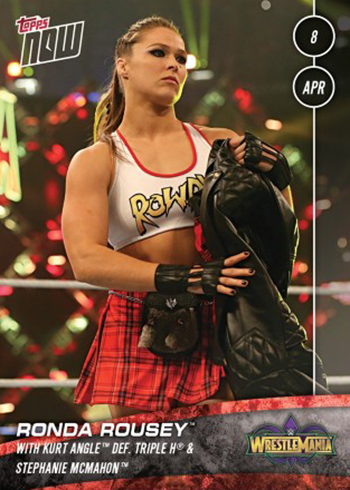 2018 Topps Now WWE 30 Ronda Rousey