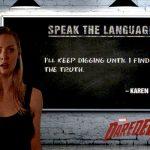 2018 Upper Deck Daredevil Seasons 1 and 2 Speak the Language