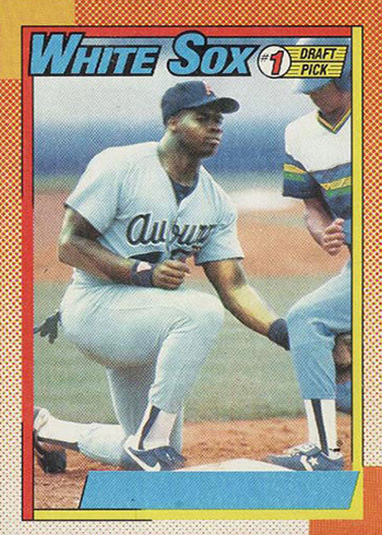 1990 Topps Frank Thomas No Name on Front B