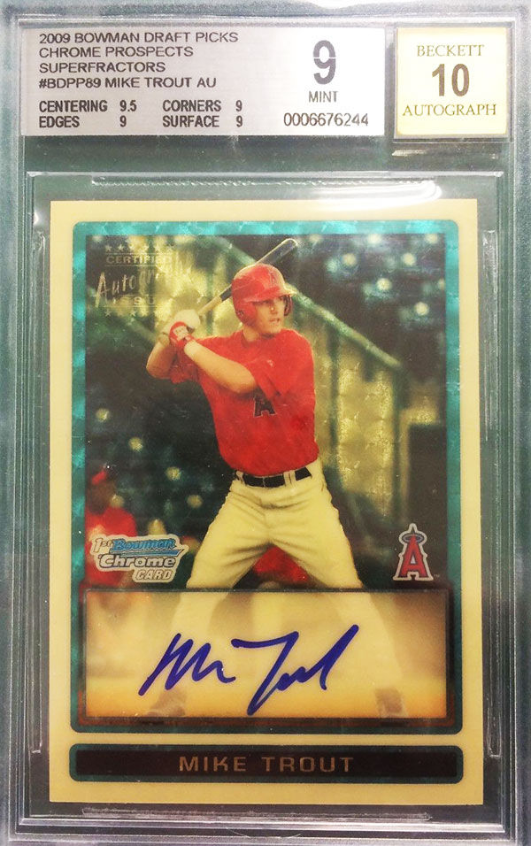 400000 Sale Of 2009 Bowman Chrome Mike Trout Superfractor Auto