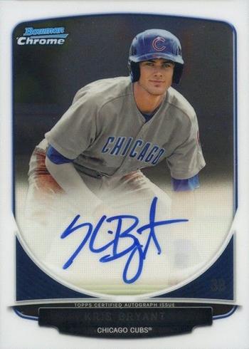 2013 Bowman Chrome Kris Bryant Autograph 350