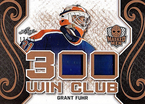 2017-18 Leaf Masked Men 300 Win Club Grant Fuhr