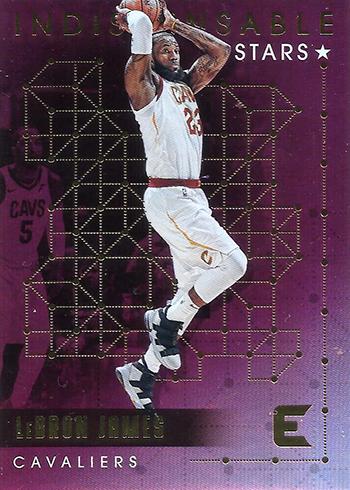 2017-18 Panini Essentials Basketball Indispensable Stars LeBron James