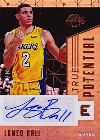 2017-18 Panini Essentials Basketball True Potential Signatures Lonzo Ball