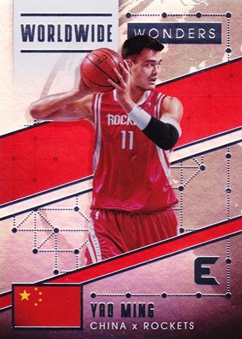 2017-18 Panini Essentials Basketball Worldwide Wonders Yao Ming