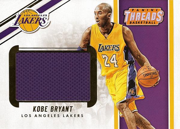 2017-18 Panini Threads Basketball Memorabilia Kobe Bryant