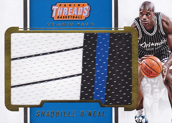 2017-18 Panini Threads Basketball Memorabilia Variation Shaquille ONeal B