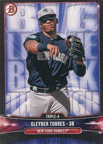 2018 Bowman Big League Breakthrough Gleyber Torres