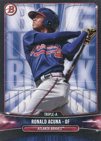 2018 Bowman Big League Breakthrough Ronald Acuna