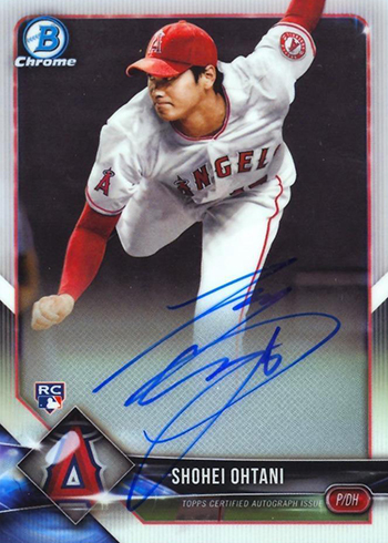 2018 Bowman Chrome Rookie Autographs Shohei Ohtani