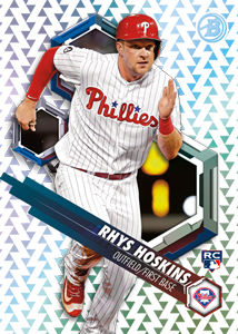 2018 Bowman High Tek Baseball Base Pattern 6