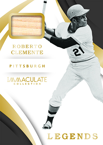 2018 Panini Immaculate Baseball Immaculate Legends