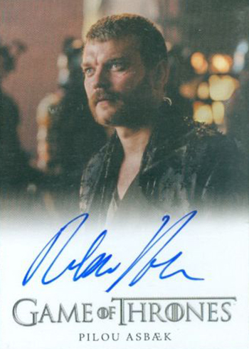 2018 Rittenhouse Game of Thrones Season 7 Full-Bleed Autographs Pilou Asbaek