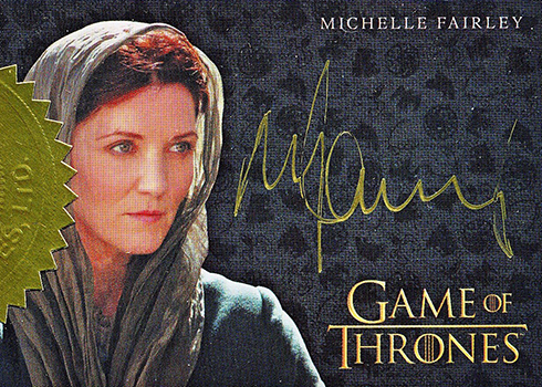2018 Rittenhouse Game of Thrones Season 7 Gold Signature Autograph Michelle Fairley