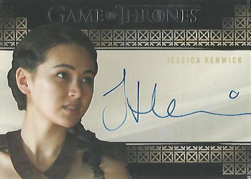 2018 Rittenhouse Game of Thrones Season 7 Valyrian Steel Autographs Jessica Henwick