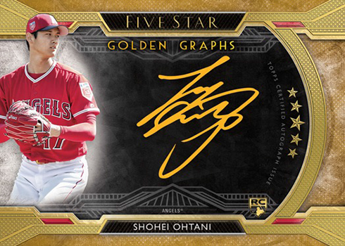 2018 Topps Five Star Baseball Golden Graphs Gold