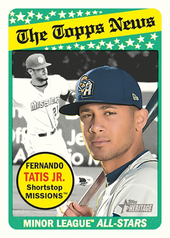 2018 Topps Heritage Minors 1969 Collector Cards//Transogram #69CC-TM Triston McKenzie Lynchburg Hillcats Official Minor League Baseball Trading Card