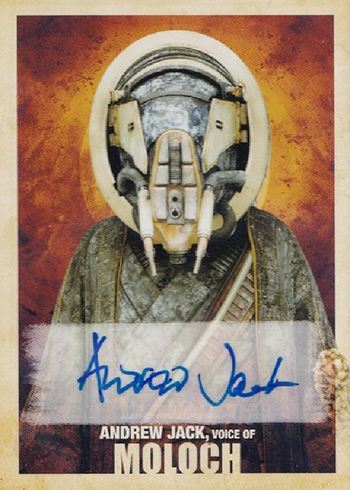 2018 Topps Solo Star Wars Story Andrew Jack Autograph
