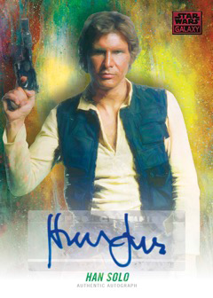 2018 Topps Star Wars Galaxy Autograph Red