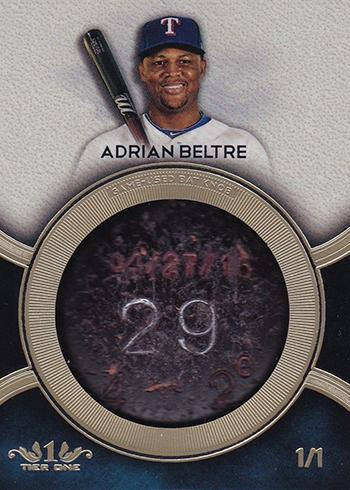 2018 Topps Tier One Baseball Bat Knobs Adrian Beltre