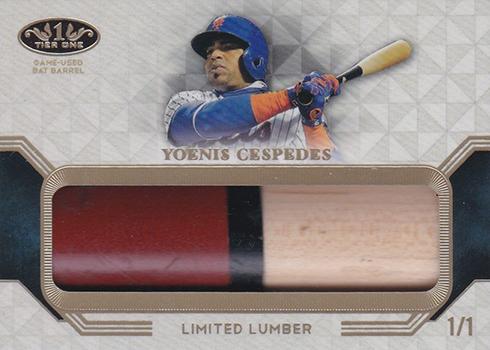 2018 Topps Tier One Baseball Limited Lumber Yoenis Cespedes