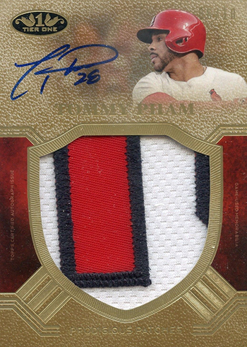 2018 Topps Tier One Baseball Prodigious Patch Autographs Tommy Pham