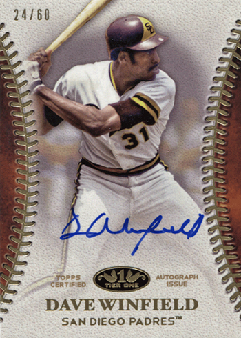 2018 Topps Tier One Baseball Tier One Autographs Dave Winfield