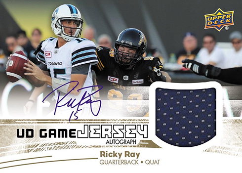 2018 Upper Deck CFL Football UD Game Jersey Autograph