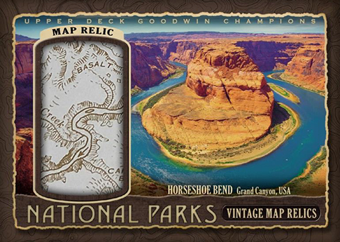 2018 UD Goodwin Champions Tipsoo Lake National Parks Vintage Map Relic //99
