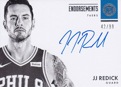 2017-18 Panini Encased Basketball Endorsements JJ Redick