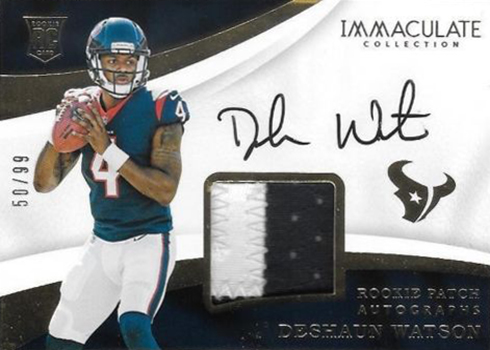 2017 Immaculate Collection Deshaun Watson Rookie Card