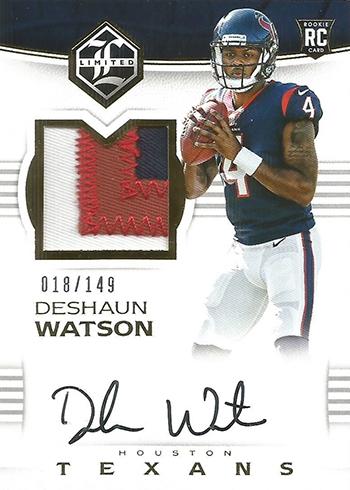 2017 Limited Deshaun Watson Rookie Card