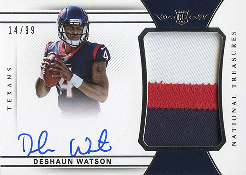 2017 Panini National Treasures Deshaun Watson Rookie Card