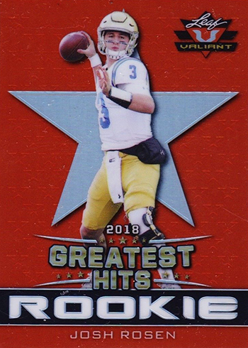 2018 Leaf Greatest Hits Football Valiant Josh Rosen Red