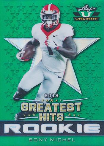 2018 Leaf Greatest Hits Football Valiant Sony Michel Green