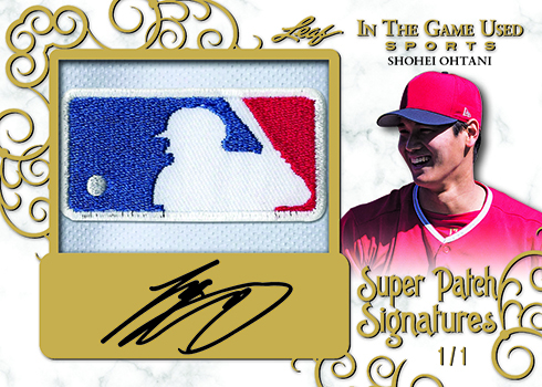 2018 Leaf In the Game Used Sports Super Patch Signatures Gold