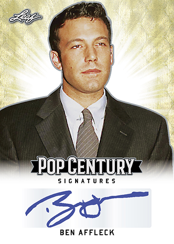 2018 Leaf Metal Pop Century Base Autographs Ben Affleck
