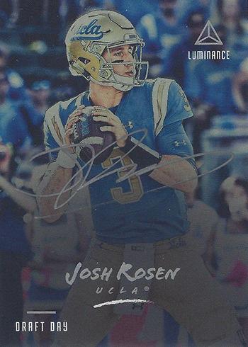2018 Panini Luminance Football Draft Day Ink Josh Rosen