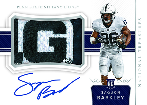 2018 Panini National Treasures Collegiate Football College Material Signatures