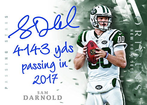 2018 Panini Origins Football Passing Stars Signatures