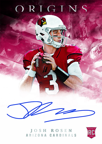 2018 Panini Origins Football Rookie Autographs