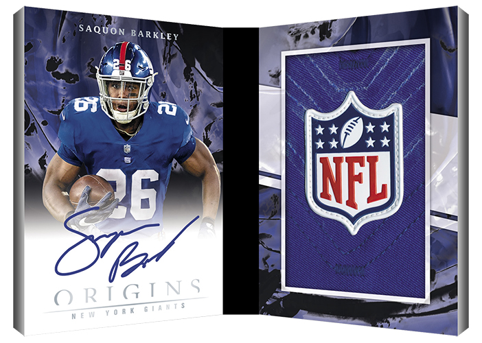 2018 Panini Origins Football Rookie Booklet Patch Auto NFL Shield